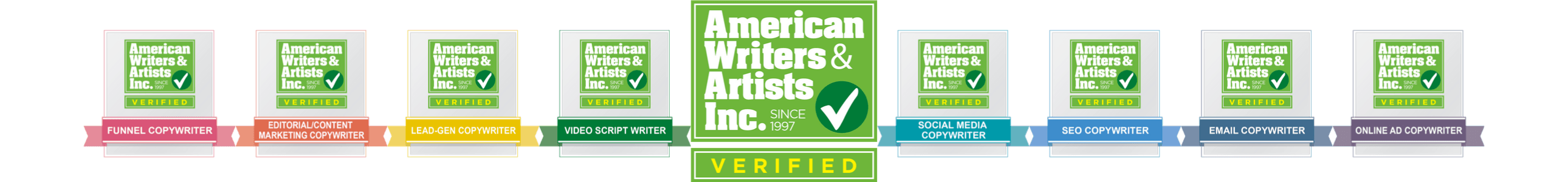 Copywriting Services provided verified by AWAI