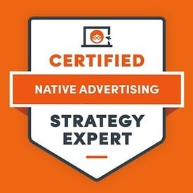 Sean Ring - Certified Native Advertising Strategy Expert